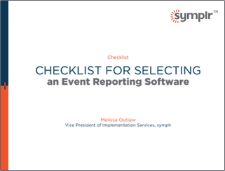 Checklist for Event Reporting | symplr White Papers