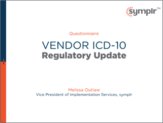 Vendor ICD-10 Regulatory Update