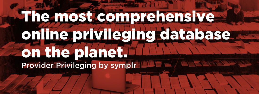 Provider Privileging from symplr