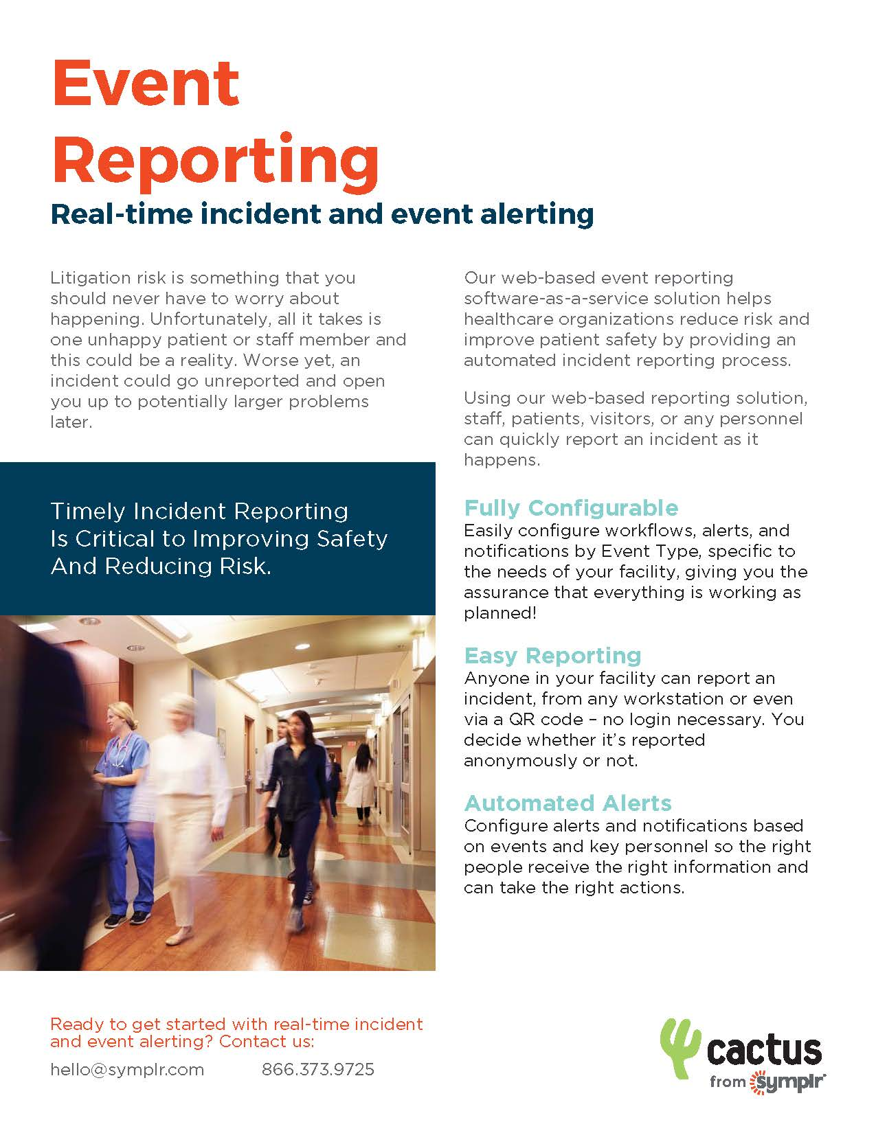 Flyer | Cactus Event Reporting Software