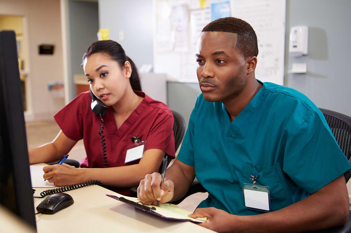 Nurses-at-nursing-station