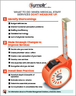 Infographic | What to do When Medical Staff Services Don't Measure Up