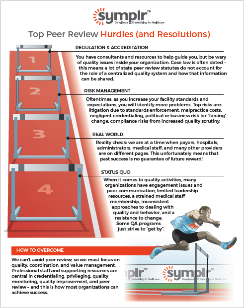 Peer Review Hurdles (and Resolutions) | symplr Infographics