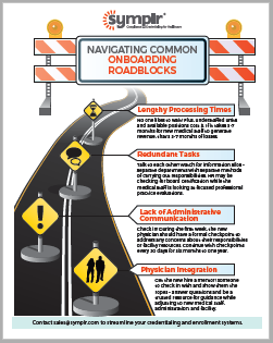 Infographic | Navigating Common Provider On-boarding Roadblocks