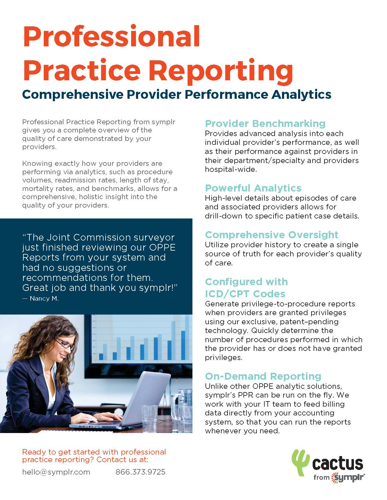 Flyer | Analytics for Improved Professional Practice Reporting (OPPE)
