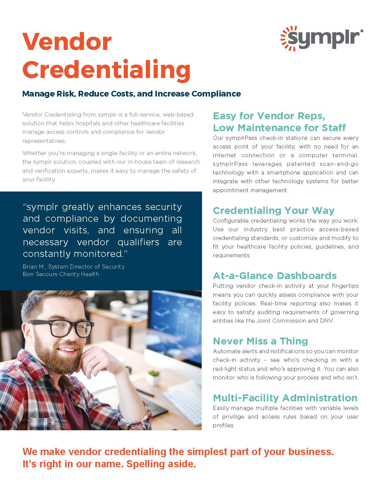 Flyer | Vendor Credentialing Services from symplr