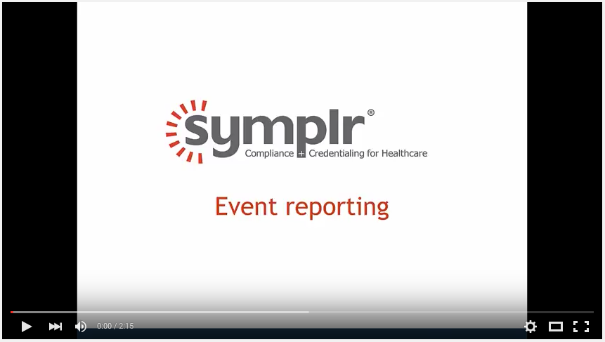 Event Reporting | symplr