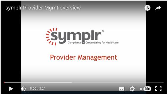 Provider Management | symplr