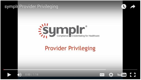 Provider Privileging | symplr