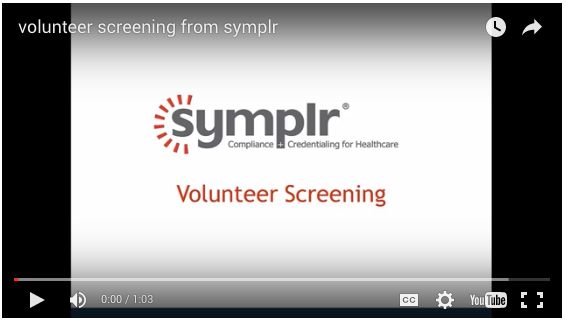 volunteer screening | symplr