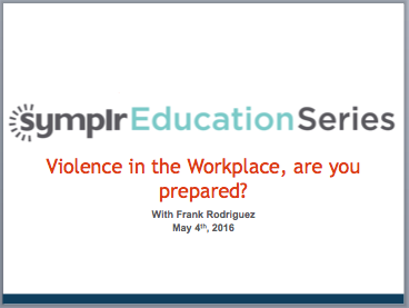 Webinar Recording | Violence in the Workplace