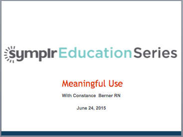 Webcast: Meaningful Use Measures | symplr