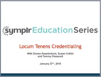 Locum Tenens Credentialing