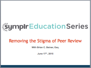 Webinar Recording | Webcast: Removing the Stigma of Peer Review