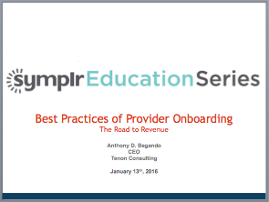 Webinar Recording | Best Practices of Provider Onboarding