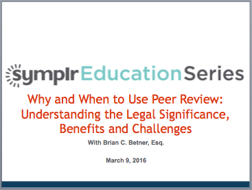 Webcast: Getting the Lowdown on Peer Review | symplr