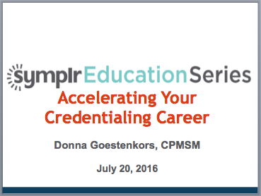 Accelerating Your Credentialing Career