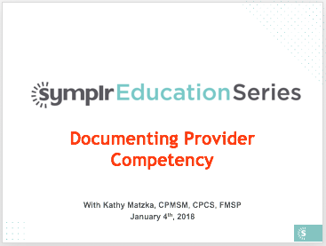 Webinar Recording | Documenting Provider Competency
