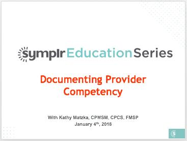Webinar Recording | Documenting Provider Competency