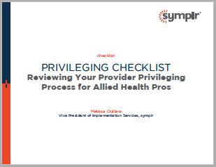 Privileging Checklist for Allied Health Pros | symplr White Papers